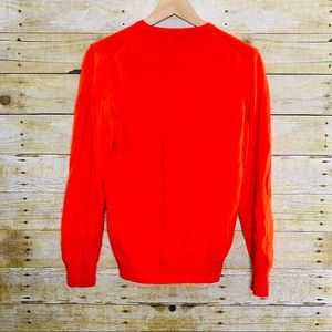 J. Lindeberg Sweaters - J. Lindeberg V Neck Sweater Wool Orange Medium